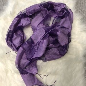 Purple Long Scarf